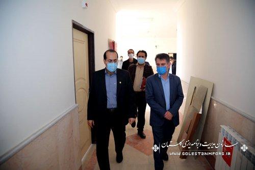بازدید رئیس سازمان مدیریت و برنامه ریزی استان گلستان از تاسیس مرکز فن آوری دانش آموزی در استان گلستان