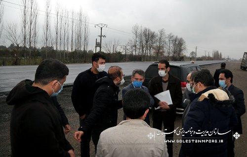 بازدید رئیس سازمان مدیریت و برنامه ریزی استان گلستان از بهسازی و تعریض مسیر جاده کردکوی-بندرترکمن