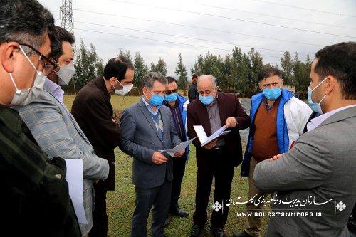 رئیس سازمان مدیریت و برنامه ریزی استان گلستان از تصفیه خانه فاضلاب بندرگز بازدید کرد