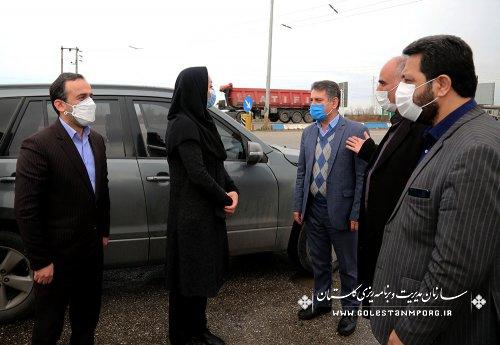 مراسم استقبال رئیس سازمان مدیریت و برنامه ریزی استان گلستان از رئیس سازمان هواشناسی کشور