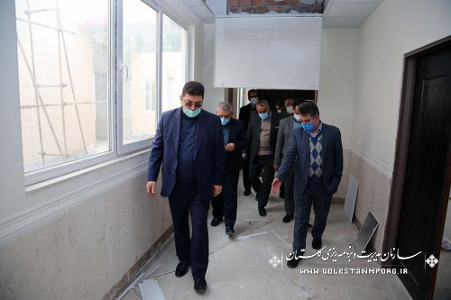 بازدید رئیس سازمان مدیریت و برنامه ریزی استان گلستان از پروژه پزشکی قانونی گنبد