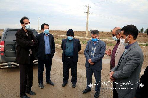 بازدید رئیس سازمان مدیریت و برنامه ریزی استان گلستان از پروژه جاده ترانزیتی موسوم به جاده نفت