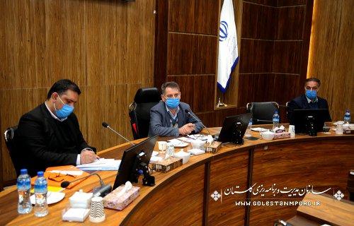 جلسه رئیس سازمان مدیریت و برنامه ریزی استان گلستان با همکاران معاونت برنامه ریزی و بودجه سازمان