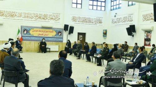 رئیس سازمان مدیریت و برنامه ریزی استان گلستان در جلسه شورای فرهنگ عمومی