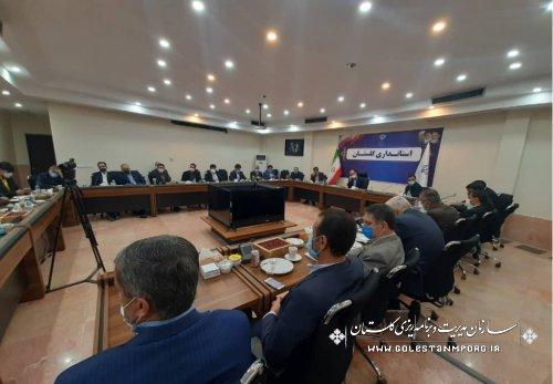حضور رئیس سازمان مدیریت و برنامه ریزی استان گلستان در جلسه با معاونین وزیر تعاون،کار و رفاه اجتماعی
