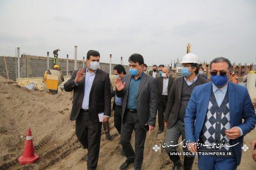 بازدید رئیس امورپایش،ارزیابی و اطلاعات سازمان برنامه و بودجه کشوراز پروژه تصفیه فاضلاب شهرستان آزادشهر