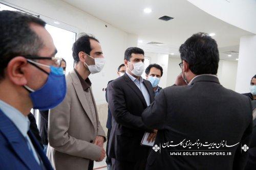 بازدید رئیس امور پایش،ارزیابی و اطلاعات سازمان برنامه و بودجه کشور  از ساختمان پزشکی قانونی گنبدکاووس