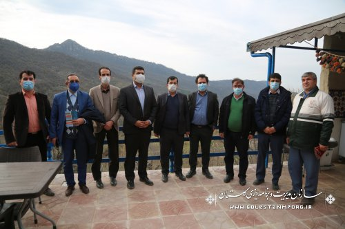 بازدید رئیس امور پایش،ارزیابی و اطلاعات سازمان برنامه و بودجه کشور از روستای نمونه گردشگری ساسنگ مینودشت