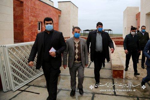 بازدید رئیس سازمان مدیریت و برنامه ریزی استان گلستان از مرکز تشخیص  بیماری های اسب آق قلا