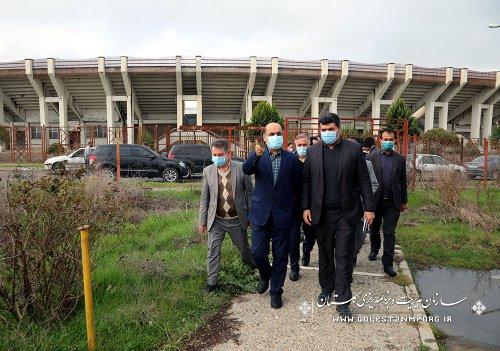 بازدید رئیس سازمان مدیریت و برنامه ریزی استان گلستان از استادیوم 6 هزار نفری کریم آباد