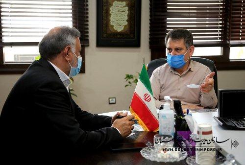 جلسه رئیس سازمان مدیریت و برنامه ریزی استان گلستان با مدیرکل ورزش و جوانان استان