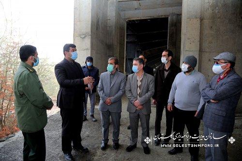 بازدید رئیس سازمان مدیریت و برنامه ریزی استان گلستان از پروژه باغ موزه دفاع مقدس در نورالشهداء