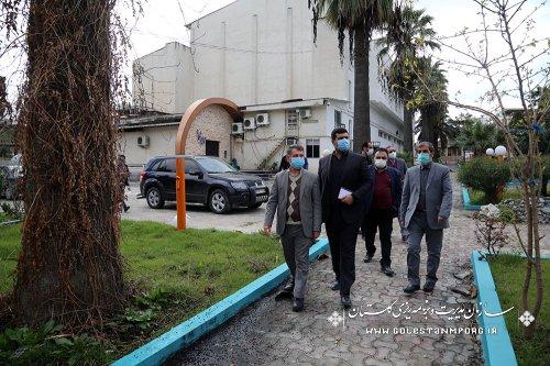 بازدید رئیس سازمان مدیریت و برنامه ریزی استان گلستان از پروژه نگار خانه تالارفخرالدین اسعدگرگانی