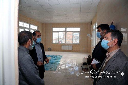 بازدید رئیس سازمان مدیریت و برنامه ریزی استان گلستان از مجتمع آموزش ابتدایی سعدآباد گرگان
