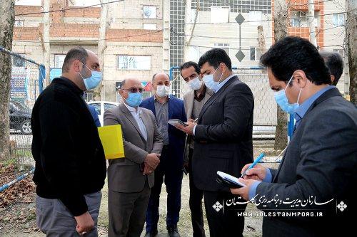 بازدید رئیس امور پایش،ارزیابی و مدیریت اطلاعات سازمان برنامه و بودجه کشور از پروژه مجتمع فرهنگی هنری شهرستان آزادشهر