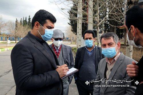 بازدید رئیس سازمان مدیریت و برنامه ریزی استان گلستان از پروژه های سایت اداری