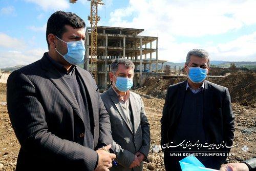 بازدید رئیس سازمان مدیریت و برنامه ریزی استان گلستان از بیمارستان 600 تختخوابی آیت الله طاهری
