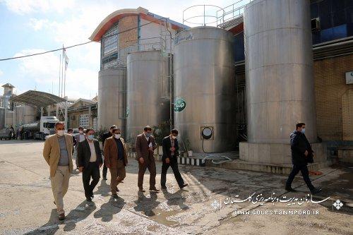 بازدید سازمان مدیریت و برنامه ریزی استان گلستان از شرکت صباح پودر آزادشهر