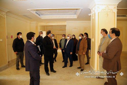 بازدید سازمان مدیریت و برنامه ریزی استان گلستان از شرکت انبوه سازان قابوس گنبد