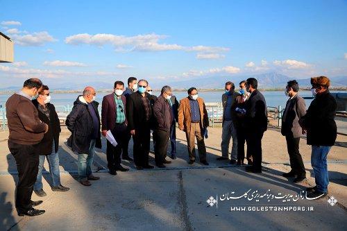بازدید سازمان مدیریت و برنامه ریزی استان گلستان از پروژه پایاب سد گلستان