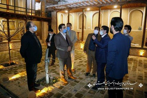 بازدید سازمان مدیریت و برنامه ریزی استان گلستان از بوم گردی رضا قلی نژاد