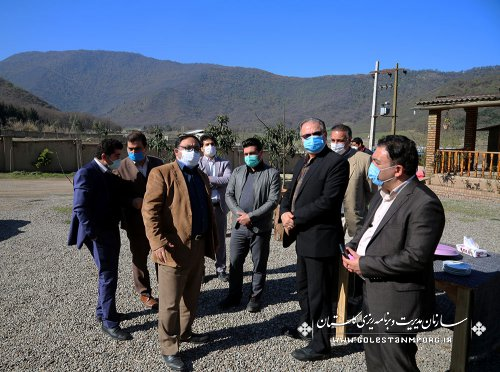 بازدید سازمان مدیریت و برنامه ریزی استان گلستان از بوم گردی جیرا رامیان