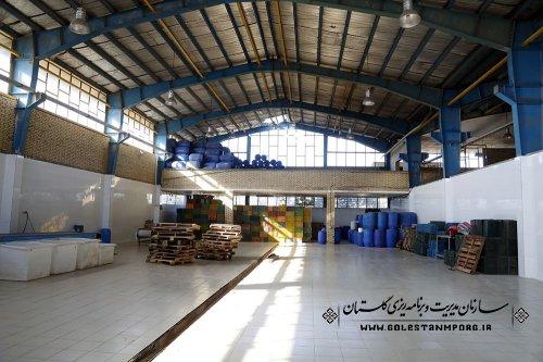 بازدید سازمان مدیریت و برنامه ریزی استان گلستان از شرکت فرآورده های تولیدکمپوت کرامتی در فاضل آباد