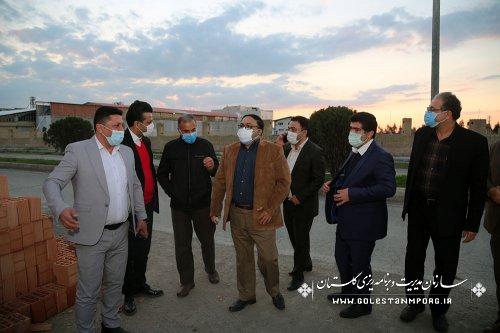 بازدید سازمان مدیریت و برنامه ریزی استان گلستان از پروژه مظاهر گوشت آق قلا