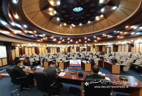 رئیس سازمان مدیریت و برنامه ریزی استان گلستان در  جلسه شورای هماهنگی حفظ آثار و نشر ارزشهای دفاع مقدس استان