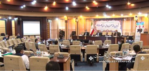 رئیس سازمان مدیریت و برنامه ریزی استان گلستان در جلسه شورای پدافند غیرعامل