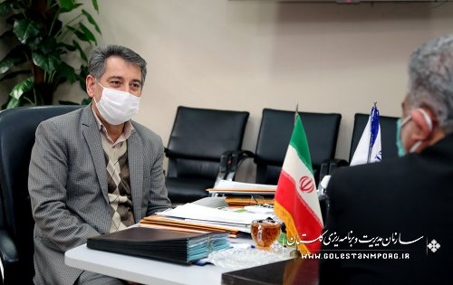 جلسه رئیس سازمان مدیریت و برنامه ریزی استان گلستان با مدیرکل عشایر استان