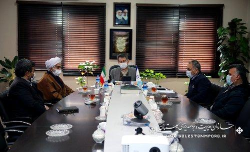 جلسه رئیس سازمان مدیریت و برنامه ریزی استان گلستان با رئیس سازمان تبلیغات اسلامی استان