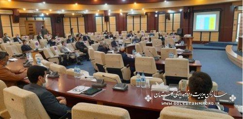 رئیس سازمان مدیریت و برنامه ریزی استان گلستان در نخستین جلسه کارگروه تسهیل و رفع موانع تولید استان در سال ۱۴۰۰