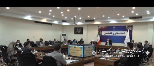 رئیس سازمان مدیریت و برنامه ریزی استان گلستان در نخستین جلسه شورای آموزش و پرورش در سال 1400