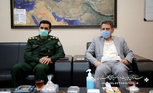 تلاش رئیس سازمان مدیریت و برنامه ریزی استان گلستان در تخصیص اعتبار در جهت شکوفایی پروژه های حفظ آثار و نشر ارزشهای دفاع مقدس استان