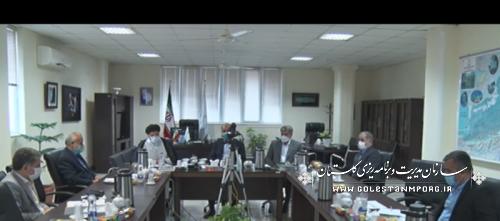 حضور رئیس سازمان مدیریت و برنامه ریزی استان گلستان در جلسه شورای هماهنگی دستگاه های نظارتی استان