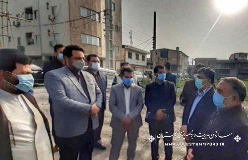 بازدید رئیس سازمان مدیریت و برنامه ریزی استان گلستان از پروژه اقدام مسکن ملی شهرستان بندرگز
