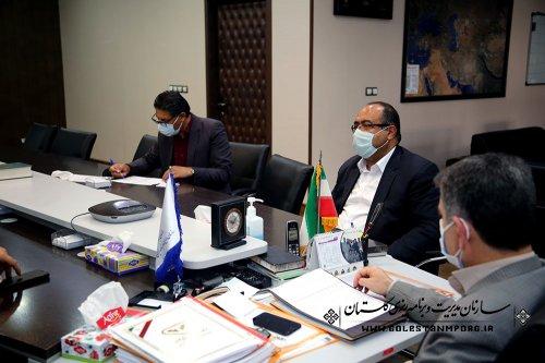جلسه رئیس سازمان مدیریت و برنامه ریزی استان گلستان با فرماندار گالیکش