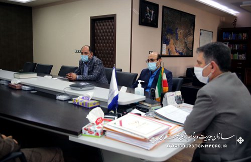 جلسه رئیس سازمان مدیریت و برنامه ریزی استان گلستان با مدیرکل امور مالیاتی استان