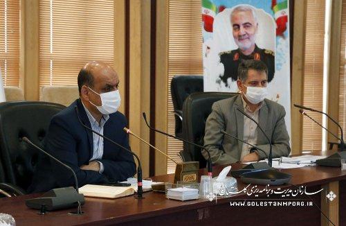 رئیس سازمان مدیریت و برنامه ریزی استان گلستان در جلسه ستاد فرماندهی اقتصاد مقاومتی استان