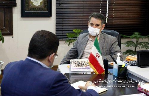 جلسه رئیس سازمان مدیریت وبرنامه ریزی استان گلستان با مدیرکل پزشکی قانونی استان