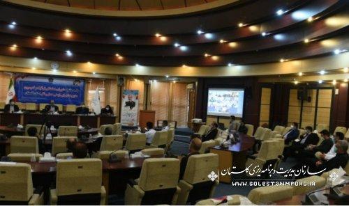 رئیس سازمان مدیریت و برنامه ریزی استان گلستان در جلسه مشترک شورای هماهنگی ترافیک و کمیسیون مدیریت اجرایی ایمنی حمل و نقل استان