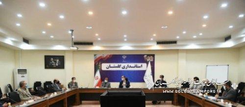 رئیس سازمان مدیریت و برنامه ریزی استان گلستان در جلسه بررسی مشکلات شهرک های صنعتی استان