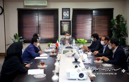 جلسه رئیس سازمان مدیریت و برنامه ریزی استان گلستان با مدیرکل راهداری و حمل و نقل جاده ای استان