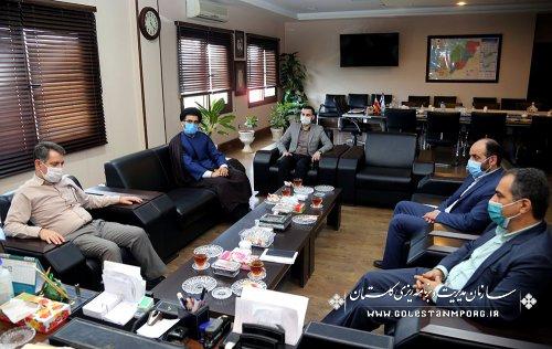جلسه رئیس سازمان مدیریت و برنامه ریزی استان گلستان با مدیرکل زندانها