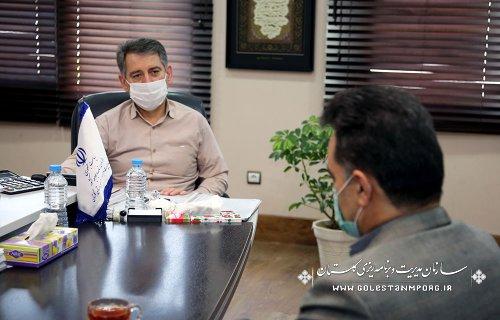جلسه رئیس سازمان مدیریت و برنامه ریزی استان گلستان با رئیس دانشگاه گنبدکاووس