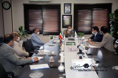 جلسه رئیس سازمان مدیریت و برنامه ریزی استان گلستان با مدیرکل پزشکی قانونی و مدیرکل راه و شهرسازی استان
