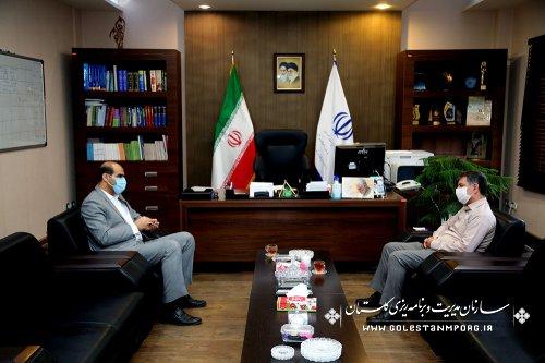 جلسه رئیس سازمان مدیریت و برنامه ریزی استان گلستان با مدیرکل فنی و حرفه ای استان