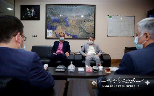 جلسه رئیس سازمان مدیریت و برنامه ریزی استان گلستان با معاون توسعه مدیریت و پشتیبانی سازمان پزشکی قانونی کشور و مدیرکل پزشکی قانونی استان