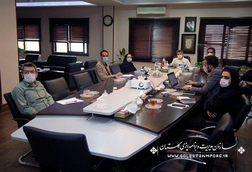 جلسه رئیس سازمان مدیریت و برنامه ریزی استان گلستان با حوزه معاونت هماهنگی برنامه و بودجه سازمان
